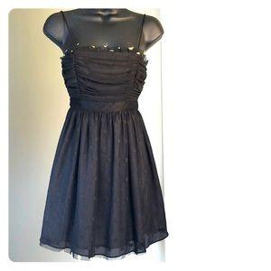 MILEY CYRUS MAX AZRIA sz S black gold dress